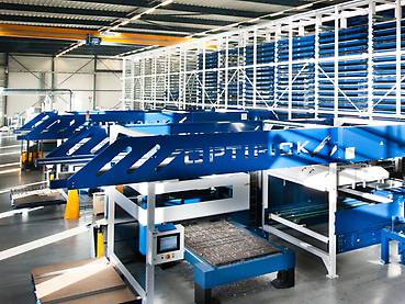 Optistore - steel plate transport and processing