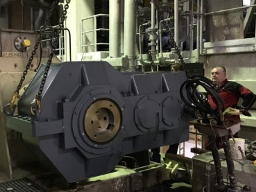 Metso/Santasalo gearbox (at drain press) ), type 3TC530N, after remanufacturing