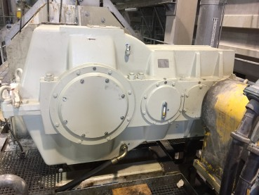 Metso/Santasalo gearbox (at drain press) ), type 3TC630N, after remanufacturing