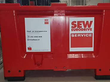 Remanufacturing red container